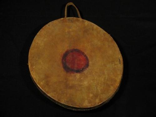 Ojibwe Bird Drum back