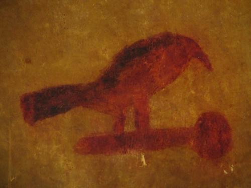 Ojibwe Bird Drum front detail
