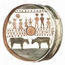 Ojibwe Ceremonial Drum – watercolour by Paul Kane